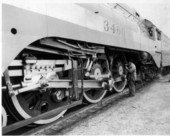 Atchison, Topeka & Santa Fe Railway Company's locomotive #3460 - all