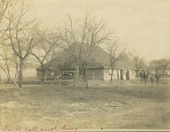 Dance hall and ring, Pottawatomie Indian reservation