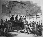 John Brown riding on his coffin to the place of execution