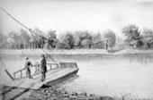 Pappan's Ferry in Topeka, Kansas Territory