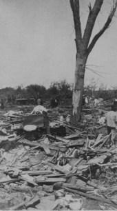 Tornado damage in Shawnee County