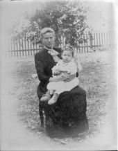Mrs. Christopher McGuire and daughter Clara, Studley, Sheridan County, Kansas