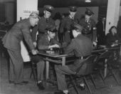 Playing checkers, Junction City, Kansas