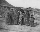 Pawnee Indian women and children
