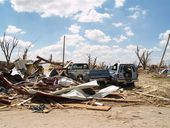 Tornado damage, Greensburg, Kansas