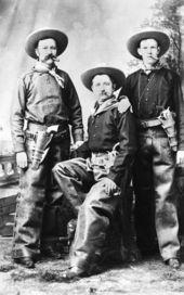 Three cowboys, Dodge City, Kansas