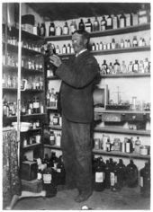Pharmacist at the Rankin Pharmacy, McLouth, Kansas