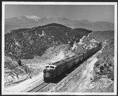Atchison, Topeka & Santa Fe locomotive #251 climbing the Cajon Pass in California