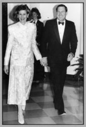 John Michael (Mike) and Patti Hayden at the White House, Washington, D. C.