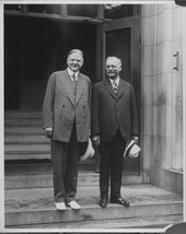 Herbert Clark Hoover and Charles Curtis