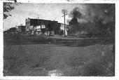 Fire scene in Hoxie, Kansas