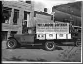 Alf Landon's campaign truck, Junction City, Kansas