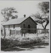 Stone schoolhouse in Silkville, Kansas