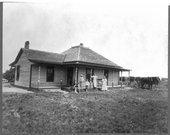 Farm houses in Pawnee County, Kansas