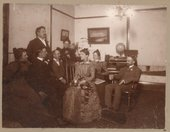 Myron Waterman and a group of people in Kansas City, Kansas