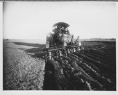 Reeves tractor and plow in western Kansas