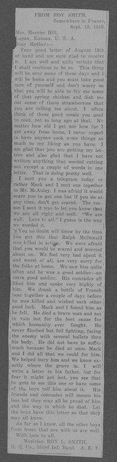 Ralph Clyde McDonald, World War I soldier