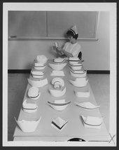 Nursing caps worn by registered nurses at Menninger Clinic in Topeka, Kansas