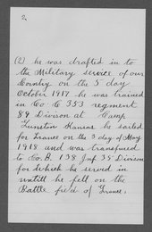 Ulysses Grant Cassel, World War I soldier