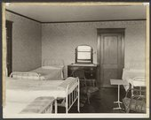 Interior views of the early Menninger Sanitarium in  Topeka, Kansas