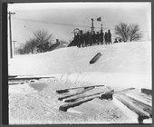 Snow scenes, Holyrood, Kansas
