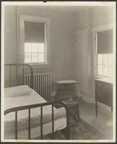 Patient's room at Menninger Hospital East Campus, Topeka, Kansas