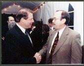 """Dan Lykins with Vice President Albert Arnold """"Al"""" Gore, Jr."""