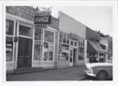Main street businesses, Rossville, Kansas