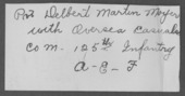 Delbert Martin Moyer, World War I soldier