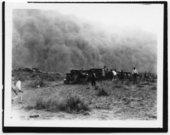 Dust storm west of Tyrone, Kansas