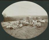 Cowboys with a chuck wagon in Seward County, Kansas