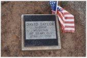 Grave marker for David Taylor