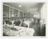 Children seated in the dining room at the State Orphans Home, Atchison, Kansas