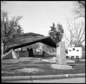 Old council oak tree in Council Grove, Kansas