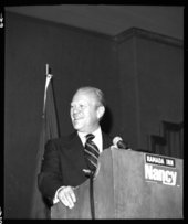 President Gerald Ford at a reception for Nancy Landon Kassebaum, Topeka, Kansas