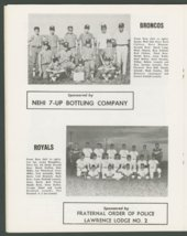 1969 SCABA baseball yearbook, Topeka, Kansas