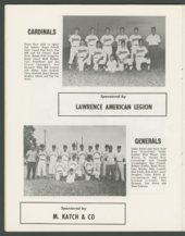1969 SCABA baseball yearbook, Topeka, Kansas