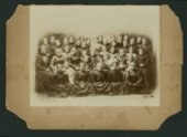 Group of women and children in Mount Hope, Kansas.