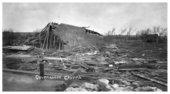 Tornado damage in Eskridge, Kansas