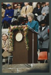 Governor Joan Finney's inauguration at the Kansas capitol in Topeka, Kansas