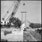 Museum construction scenes, Topeka, Kansas
