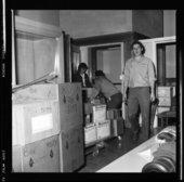 Packing and moving items to the new museum, Topeka, Kansas