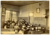 Interior view of classroom in Alma, Kansas