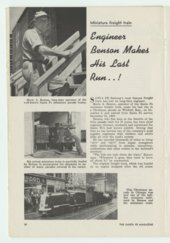 Atchison, Topeka & Santa Fe Railway's miniature train and the engineer Merle A. Benson