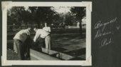 Joplin Miners baseball players at a picnic