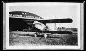Howard Athon's Alexander Eaglerock bi-plane at the Topeka airport in Topeka, Kansas