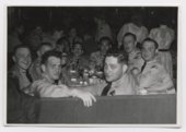 U. S. Army soldiers at a company party probably taken in Germany during the Cold War