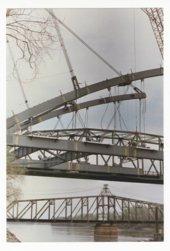 Construction on the Amelia Earhart Memorial bridge at Atchison, Kansas