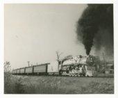 Chicago, Burlington & Quincy locomotive #5632 and passenger train