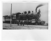 Atchison, Topeka & Santa Fe Railway Company's steam locomotive #1110